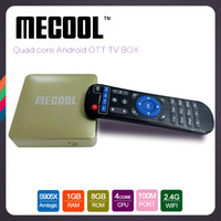 Wholesale Wholesale Champagne Box - mecool hm8 KD17.0 Fully Load android tv box Amlogic s905x Quad Core Set-top Box android6.0 4K H.265 1GB 8GB WiFi media center