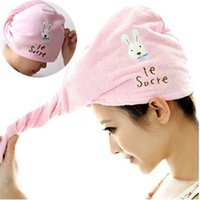 Wholesale Towel Wraps Wholesale - Hot Microfiber Hair Towel Magic Hair Dry Drying Turban Wrap Towel Hair-Drying Cap Hat Quick Dry Dryer Bath Make Up Towel