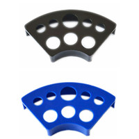 Wholesale Tattoo Color Caps - Wholesale-2 Color Professional Tattoo Ink Cup Holder 8 Cap Holes Plastic Ink Cup Holder Pigment Cup Bracket Trailer Tattoo Supplies Tools