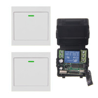 Mini tamanho DC 12V 1CH 1CH 10A RF Wireless Controle Remoto Switch System, (Receptor + 2 86 Wall Panel Transmissores), Toggle