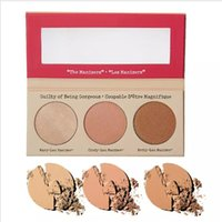 Wholesale oil pressing - Hot Makeup Cosmetics Manizer Sisters 3 Color Face Pressed Powder Betty-Lou Cindy-Lou Shimmer Powder Palette Bronzers Highlig free shipping