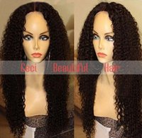 Wholesale Long Dark Brown Hair Curled - brazilian virgin human hair full lace&lace front wigs,kinky curl full lace human hair wigs for black women