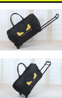 Wholesale Black Journey - cartoon pull rod travel bags pattern printed Oxford cloth luggage backpack journey bags online shopping wholesale and retail