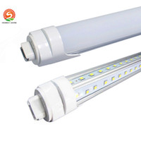 Wholesale Dual Ce - 5ft tubes T8 Cooler Door Led Tube 4ft 5ft 6ft 8ft Dual Rows SMD 2835 V-Shaped Led Light Tube 270 Angle AC 85-265V
