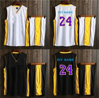 Wholesale Top Brand Men Suit - BRYANT Basketball training suit no brand no logo basketball sets ,customized your number and name,top qualityr sports suits