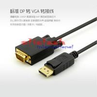convertidor displayport vga al por mayor-por dhl o ems 100pcs DP a vga Display Port DisplayPort DP Macho a VGA Adaptador de Cable Convertidor Macho PC Portátil 6FT / 1.8M
