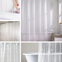 Wholesale Shower Curtains Clear - Wholesale- 1pcs 178x180cm Thin and Light Smooth Translucence Waterproof Mildewproof Clear Shower Curtain Liner PEVA Home Bathroom Products
