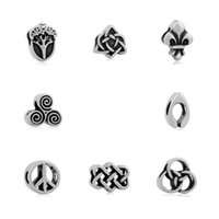 Wholesale Celtic Knot Beads - comejewelry Acorns contain oak potential,Celtic knot,Triple Helix Charms Stainless Steel Beads Fit Pandora Bracelet Jewelry for Making