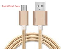câble de téléphone à chargement micro usb achat en gros de-Boîtier en métal tressé Câble Micro USB Durable Étamage Haute Vitesse USB Type C Câble avec 10000+ Bend Durée de vie pour Android Smart Phone