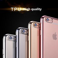 Wholesale colorful design TPU Electroplating Case phone cover Ultra Thin Soft TPU case for Iphone s plus samsung S8 s8 S7 S7 edge S6 S6 edge