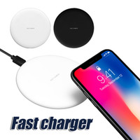 Wholesale Galaxy Note Pad - New Arrival For iPhone X Wireless Charger Fast Charger Qi Pad Charging For Samsung Galaxy Note 8 S8 Note 5 with Retail Box