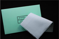Wholesale Silver Jewelry Cleaner Cloth Wholesale - 100pcs silver polish cleaning polishing cloth with package silver cleaning cloth wiping cloth of silver jewelry suede maintenance