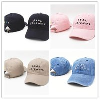 Wholesale Brown Friends - fashion Real friends trending Men Women rare 2017 fall hat I feel like Pablo Kanye hat strapback famous tumblr hat drake dad cap bone