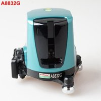 Wholesale laser line green - AcuAngle A8832G Green Laser Level 635nm 2 Cross Lines 360 Rotary