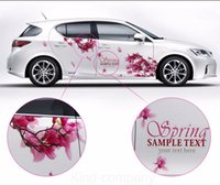 Wholesale car auto graphics resale online - A Set auto motor rose red cherry blossom power vehicle truck Car Truck Decal Vinyl WRC Totem Graphics Side Decal Body Sticker