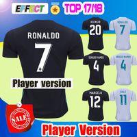 Wholesale Soccer Player Jersey - 2018 Real Madrid player version Home White Away black Soccer Jersey 17 18 CR7 soccer shirt Ronaldo Bale Football Asensio SERGIO RAMOS Shirts
