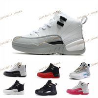Unisex outdoor games boys - Cheap Children Athletic RETRO Boys And Girls OVO French Blue Playoffs flu game The Master Taxi Sports XII Sneakers Kids Basketball Shoes