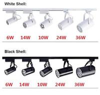 Wholesale Track Light 9w - Black White LED track light 3W 5W 7W 9W 12W 15W 18W lighting Natural Cool Warm White Led Ceiling Spot Lights AC 85-265V MYY