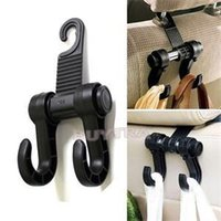 Wholesale Automobile Supply - Wholesale- Double Automobile Hanger Daily Grocery Shopping Hook Holder, Car Back Seat Fastener Auto Supplies Interior Accessories Hook Clip