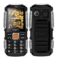 Lingwin N2 2.4 Inch Outdoor Shockproof Rugged Feature Telefone móvel 3100mAh Power Bank Função Dual Flash Light FM Radio MP4