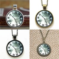 Wholesale Gate Bracelets - 10pcs Steins Gate pendant vintage Clock Glass Photo Necklace keyring bookmark cufflink earring bracelet