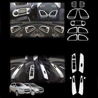 hyundai için araba kaplamaları toptan satış-Hyundai IX35 Için 13 adet 2010 2011 2012 Abs Krom İç Trim İç Kalıp Dekorasyon Trim Araba Oto Aksesuarları