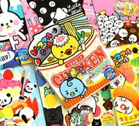 Vente en gros- Nouveau Kawaii Cartoon Animal Gastronome Gift Seal Flake Sticker Set Scrapbooking Deco Stickers H0160