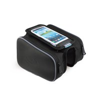 Wholesale Top Tube Bag Phone - ROSWHEELSensitive Touch Screen Bicycle Smart Phone Bag 5.0 5.5 inch Touch Screen Top Frame Tube MTB Road Bike Cycling Storage Bycicle Bolsa