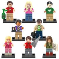 Wholesale Amy Toys - The Big Bang Theory TBBT Mini Sheldon Leonard Penny Howard Rajesh Amy Bernadette Leslie Figures Building Blocks Toy XINH X0125