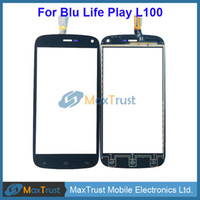 """Wholesale Touch Screen Blu - Top Quality 4.7"""" For Blu Life Play L100 L100A L100i Touch Screen Digitizer Front Glass Panel Sensor Black White Color"""