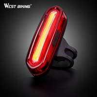 Wholesale West Mountain - Wholesale- WEST BIKING USB Rechargeable Bike Lights Mountain Warning Light LED Super Bright Change Bicycle Cycling USB Charging Taillight
