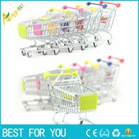 Barato Bonitos Carrinhos De Compras-2017 nova chegada Vogue Cute Mini Shopping Cart Supermercado Handcart Stainless Steel Mode Storage