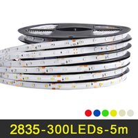 Wholesale Led Low Price - 5M 300 leds RGB LED Strip light 2835 SMD Decoration lamp High Luminous flux More than 3528 Lower Price than 5050 5630 SMD