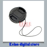 Wholesale Lens Cap 49 - Wholesale-Universal Camera Lens Cap Protection Cover 49 52 55 58 62 67 72 77 lens cover provide choose With Anti-lost Rope Free Shipping
