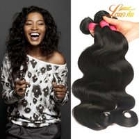 Wholesale Malysian Weave - Factory Price Malysian Virgin Hair Extension Body Wave Unprocessed Virgin Human Hair Weft Natural Color #1B Can Be Dyed Free Shipping