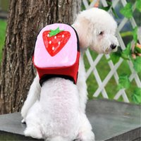 Wholesale Pet Tote Carrier Purse - Canvas Cute Cartoon Dog Pet Schoolbag Backbag With Delicious Fruit Pet OutsdideCoin Purse For Small Dog Travel Bags Outside 8 Types 2 Size