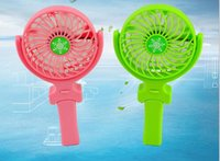 Wholesale Hot Handy Usb Fan Foldable Handle Mini Charging Electric Fans Snowflake Handheld Portable For Home Office Gifts RETAIL BOX Free DHL