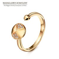 Wholesale Punk J - Cubic Zirconia Rose Gold Plated Charm Punk Rings for Women Fashion Jewelry 2017 New Party Simp-j Aneis RI2 Neoglory