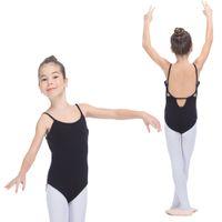 Wholesale Spandex Leotard Kids - Black and More Color Cotton Lycra Ballet Camisole Leotards with Back Hole Kids Dancewear Girls Bodysuit for Dance