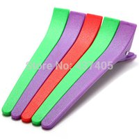 Wholesale Hair Sectioning Clamps - Wholesale- Free Shipping 12Pcs Plastic Colorful Hairdressing Salon Styling Sectioning Clips Clamps Hair Grip tool