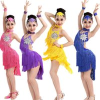 Wholesale Kids Ballet Dresses Sale - Hot Sale Latin Dance Dress For Girls Children Ballet Tutu Tassel Kids Dance Dresses Modern-Dance-Costumes-For-Kids Dancewear Dress For Kids