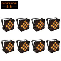 Wholesale Size 15w - Freeshipping 8 Unit 9*15W RGBWA 5IN1 2.4G Wireless Flat Led Par Light Compacted Size 25 Degree Lens Remote Control Cheap Price TP-G3039