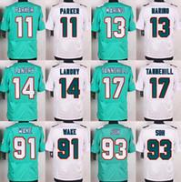 Wholesale Elite 13 - Hot sale Men's Jerseys #14 Jarvis Landry #13 Dan Marino #17 Ryan Tannehill #93 Ndamukong Suh #91 Cameron Wake elite jerseys.