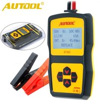 Wholesale French Language Tools - Original AUTOOL BT360 Car Battery Tester 12V Digital Analyzer 2000CCA 220AH Multi-Languages BAD Cell Test Car Tools High Quality