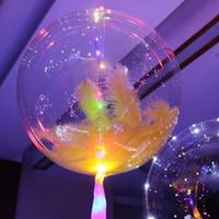 ingrosso palloncini d'illuminazione a elio-LED Rope Lights Christmas Flasher regalo di luce Ball Wave 18 pollici Helium Balloons Wedding Party Festeggia la decorazione di Halloween
