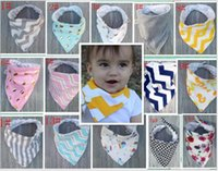 Wholesale Chevron Ties Boys Wholesale - 20 Styles Baby Bibs 100%Cotton Dot Chevron Bandana Bibs Infant Babador Saliva Bavoir Towel Baberos For Newborn Baby Girls Boys A08