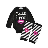 Wholesale lips winter for sale - New Kids Clothing Sets Black Lip Jumpsuits Winter Autumn Spring Long Sleeve Baby Casual Suits Infant Rompers M