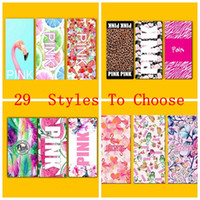 Wholesale Wholesale Pink Beach Towels - Pink Bath Beach Towel 70*140cm 29 styles Leopard Plage Bathroom Towels Thin VS Pink Letter Sports Towel Bathroom Towels OOA903