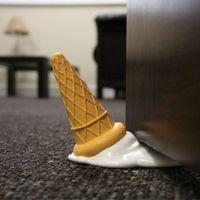 Wholesale Spill Stop - 1Piece New Arrivals Dropped Spilt Ice Cream Door Stop Doorstop scOOPS! Door Stopper Home Decor