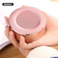 Wholesale Metallic Usb - Bluetooth Speaker REMAX M13 Wireless Speakers Portables Mini metallic Subwoofer support TF card HD Sound Transport Call Function with Mic